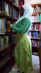 At the library
