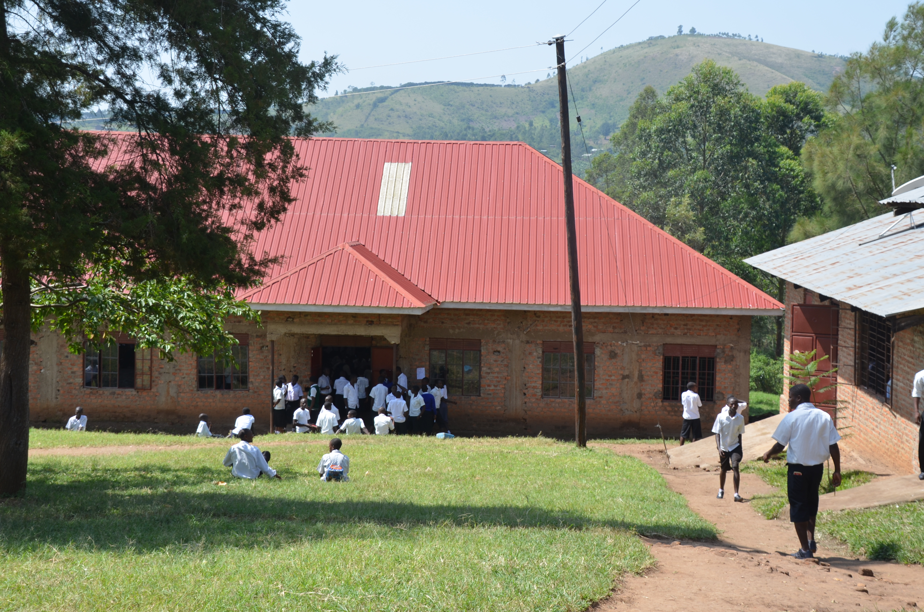 Scene from Kisyoro Secondary School in Uganda