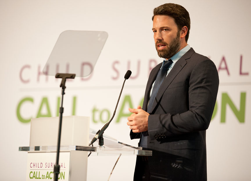 Ben Affleck Speaking at Call to Action