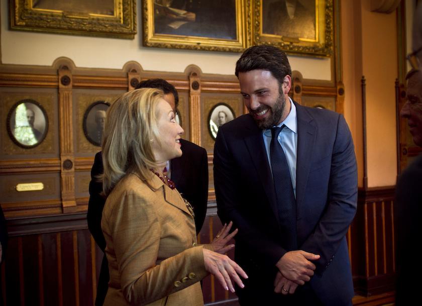 Secretary Clinton and Ben Affleck